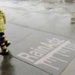 Rain Ads on Concrete